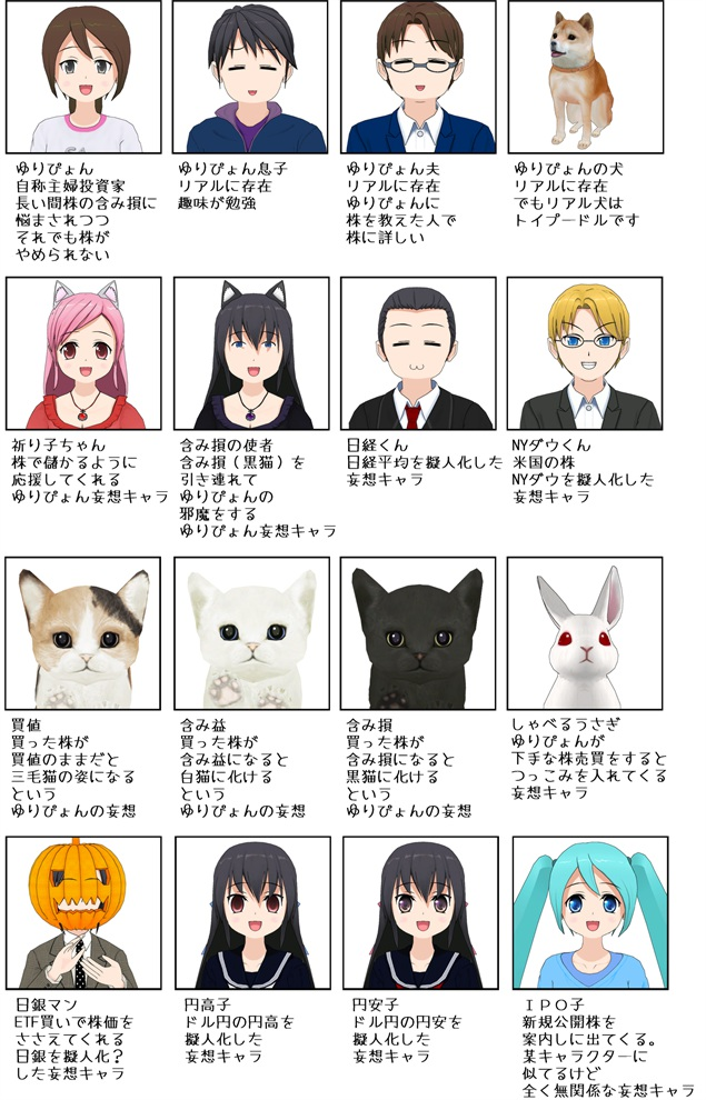 漫画登場人物紹介 | お気楽主婦...